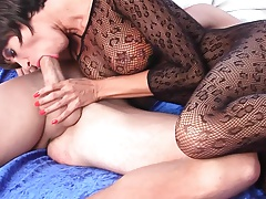 Milf bodystocking in anal satisfaction