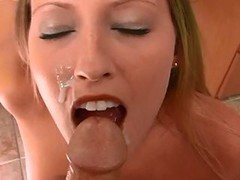 Beautiful face cumshot Point of view!