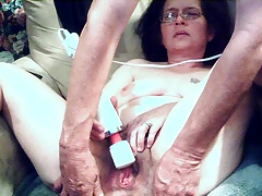 playing with wife