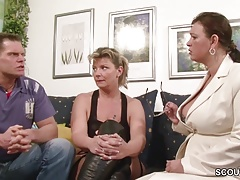German Big Tit MILF Teach Couple to Have more Fun at Sex