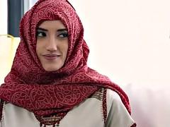 アラブ, 美女, フェラチオ, マッサージ, オッパイの