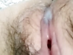 the teacher's pussy after fucking