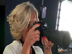 Hot Blonde Granny Cougar Katia