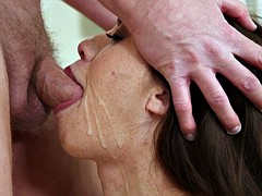 Sexy Brunette Gets Fucked In Face