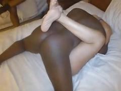 Black Ball cream in Slut Wife Vagina.