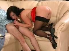 Aged anal in underwear