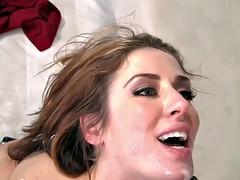 WANKZ Stocking Clad Street Slut Sheena Takes A Hard Choke Fucking