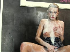 Slime whore gets bukkake