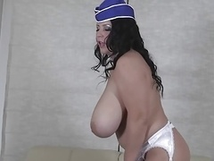 The Romanian BBW-Goddess Alicia - Huge-Boobs in Uniform