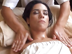 Sucer une bite, Brunette brune, Hard, Massage