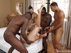 Zwart, Blond, Groepseks ejactulatie, Groep, Hd, Moeder die ik wil neuken, Feest