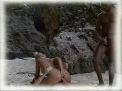 White dude sharing his wife in safari