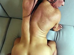 Amateur muscle MILF getting fucked in the ass