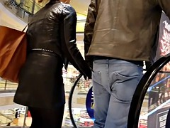 Leather Skirt Ass and Leather Jacket