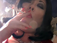 Smoking A Eve 120 Cigarette With Match Light Up - BBW Fetish