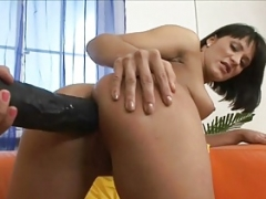 Lisa has her tooshie stretched and plus licked by thick strapon