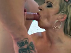 Mature Blonde Rides Hard Cock - Lucy