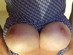 My huge natural tits getting fondled