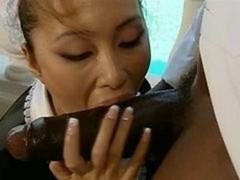 asian maid interracial CFNM Bj