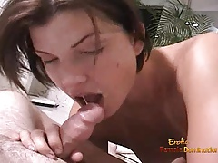 Brunette loves stripping down so she can get money to buy