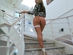 Slim sexy hotties in high heels tease in HD videos