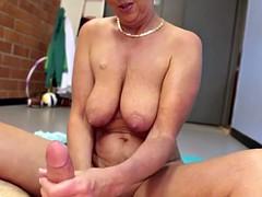 Amateur spex mature pulling hard cock pov