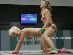Sexy teenage gals almost undressed on the fight floor play & fuck eachother with toys in doggystyle lez dirty sex videoclips