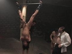 Cecilia Vega gets bum fucked in the roomfull of spectators