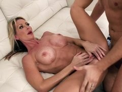 Dude cheats on his wife with big-titted blonde