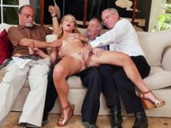 Young and fresh russian threesome Frannkie And plus The Gang Tag Team A Door To Door Saleswoman