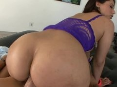 Reena Sky oiled up and fucked by a big dick guy