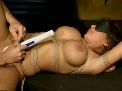 Breasty beauty gets pegged down up and plus fucked hard