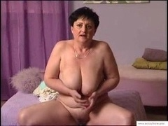 55 Full years Granny Mariska Masturbates At Home