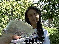 Amateur, Morena, Europeo, Dinero, Pov, Público, Coño, Montar
