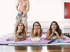 Amerikanisch, Tussi, Braunhaarige, Gruppe, Latina, Party, Realität, Jungendliche (18+)