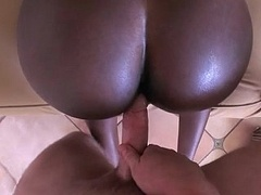 Big black young and fresh natural tits in action