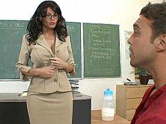 デカパイ, フェラチオ, 服従, 女, 眼鏡, オフィス, ピアス, スカートのぞき