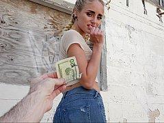 18 jahre, Amerikanisch, Geld, Im freien, Pov, Öffentlich, Muschi