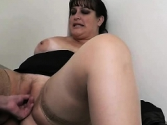 Big-breasted chick takes it hard from behind by co worker