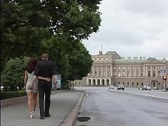 Dilettante Blonde Fucked in Public St. Petersburg