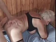 Youthful Buck Jizzes On Granny