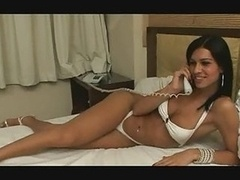 Shemale Renata Araujo Double penetration