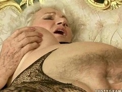 Granny and furthermore young-looking beauty have hot sex