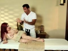 Massaged redhead jizzed