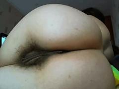 Close up bushy pussy pounded