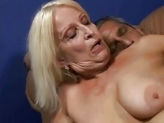 Making love hot blonde granny