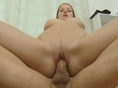 Sweet looking young European chick needs a big meat pole right now