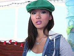 アジア人, 美女, 茶髪の, 脱衣服, カワイイ, 現実, ストリップ, ストリッピング
