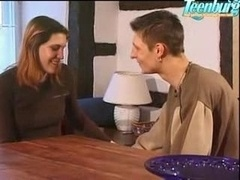 Brother Seduced Sister And besides Fucked Her On Table