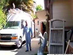 Big mean black man totally molest a housewife